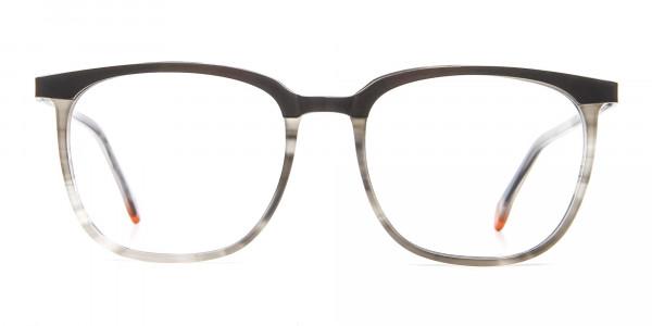 Silver Grey Square Glasses