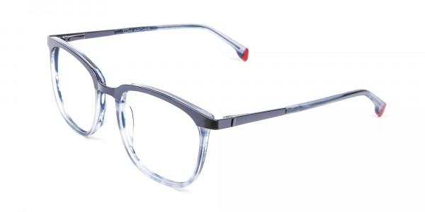Smoky Blue Framed Glasses - 2