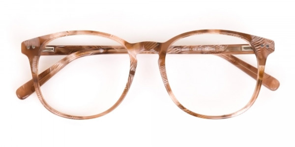 Brown Dark Beige & Stripes Wayfarer glasses-6