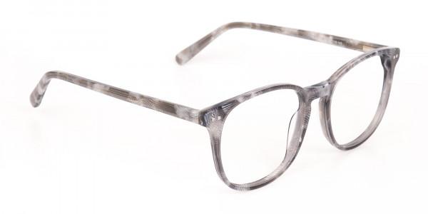 Silver Grey Wayfarer glasses Acetate Unisex-2