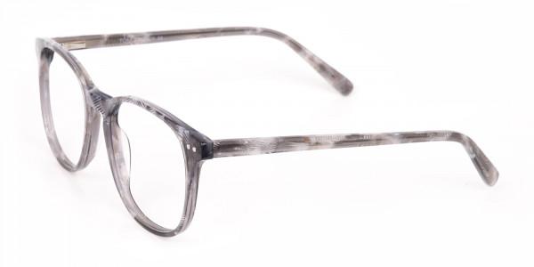Silver Grey Wayfarer glasses Acetate Unisex-3