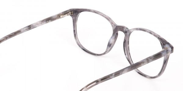 Silver Grey Wayfarer glasses Acetate Unisex-5
