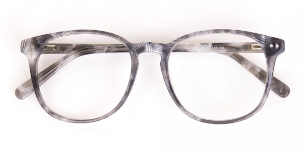 Silver Grey Wayfarer glasses Acetate Unisex-6