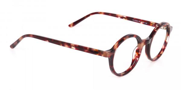 Tortoise Round Acetate glasses Frame Unisex-2