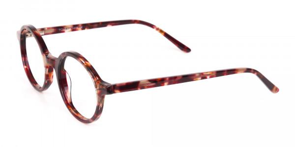 Tortoise Round Acetate glasses Frame Unisex-3