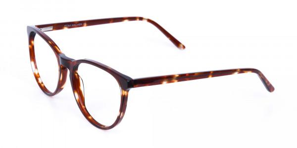 Tortoise Acetate Round Eyeglasses Unisex-3