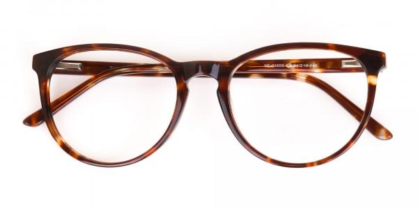 Tortoise Acetate Round Eyeglasses Unisex-6