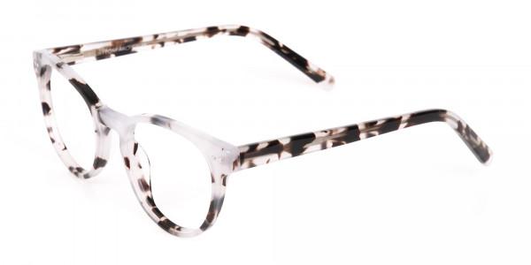 Marble Grey Round Acetate Eyeglasses Unisex-3