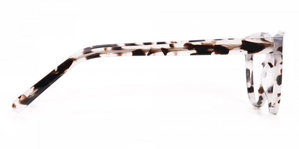 Marble Grey Round Acetate Eyeglasses Unisex-4