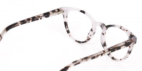 Marble Grey Round Acetate Eyeglasses Unisex-5