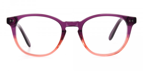 Purple & Tangerine Orange Two-Tone Glasses-1