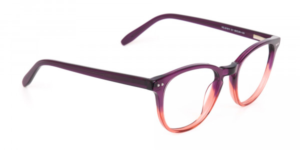 Purple & Tangerine Orange Two-Tone Glasses-2