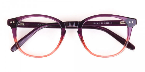 Purple & Tangerine Orange Two-Tone Glasses-6