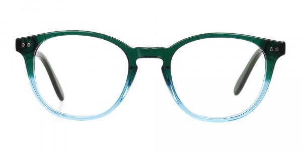 Hunter Green & Teal Two-Tone Glasses-1