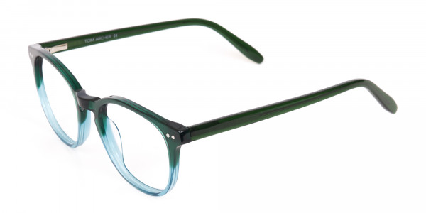 Hunter Green & Teal Two-Tone Glasses-3
