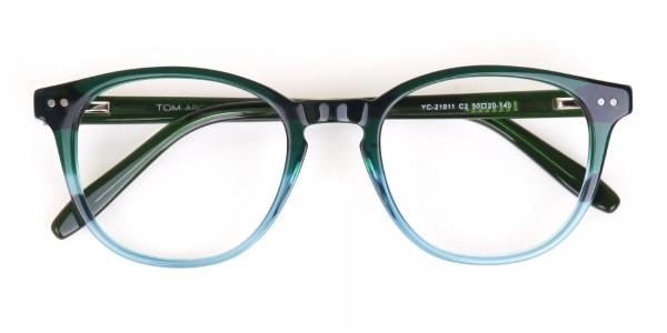 Hunter Green & Teal Two-Tone Glasses-6