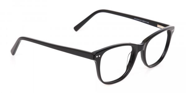 Black Rectangle Eye Frame Unisex-2