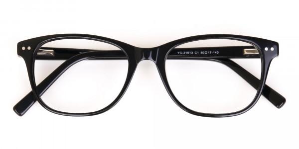 Black Acetate Rectangular Eyeglasses Unisex-6