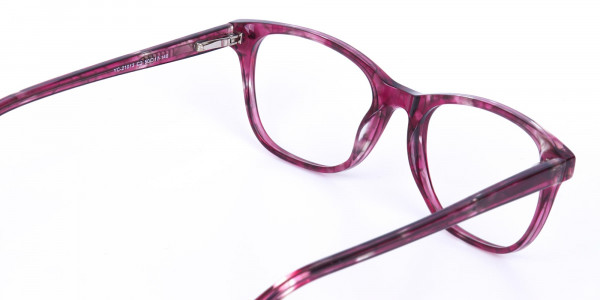 Rose Pink Marble Acetate Rectangular Glasses-5