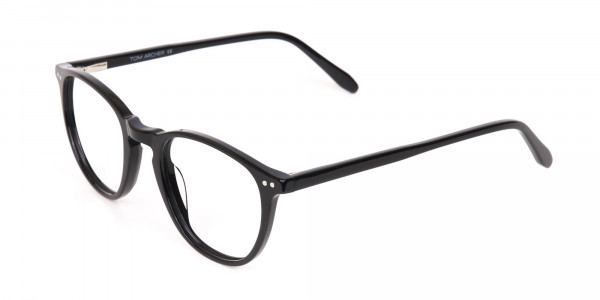 Black Acetate Wayfarer Glasses Unisex-3