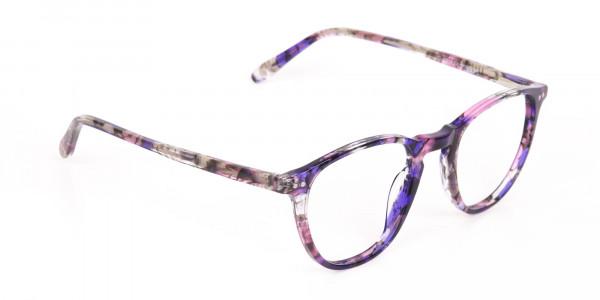 Purple & Rose Pink Tortoise Wayfarer Glasses-2