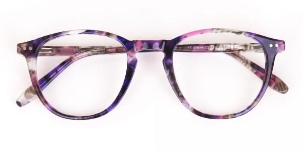 Purple & Rose Pink Tortoise Wayfarer Glasses-6