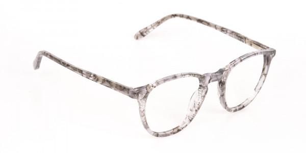 Silver Grey Marble Acetate Wayfarer Glasses-2