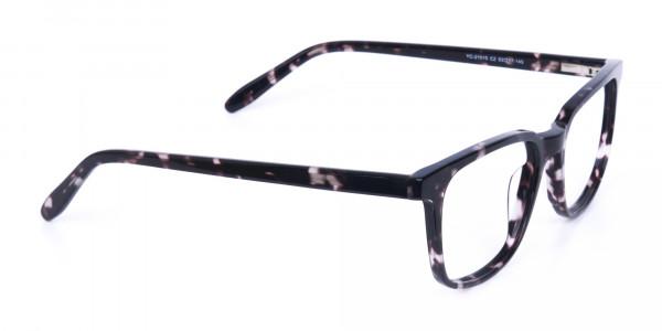 Dark Tortoise Rectangular Glasses Acetate Unisex-2