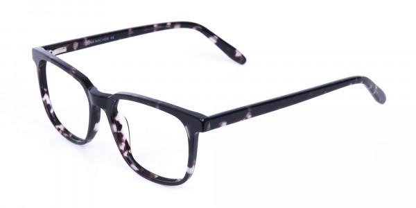 Dark Tortoise Rectangular Glasses Acetate Unisex-3