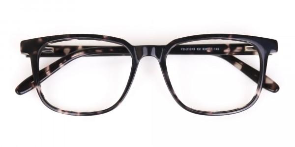 Dark Tortoise Rectangular Glasses Acetate Unisex-6