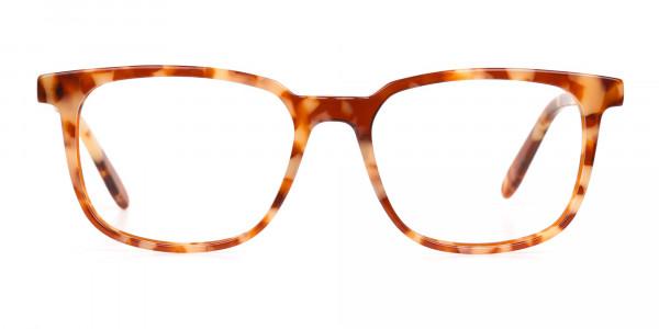Caramel Tortoise Rectangular Glasses Unisex-1