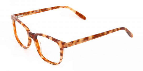 Caramel Tortoise Rectangular Glasses Unisex-3
