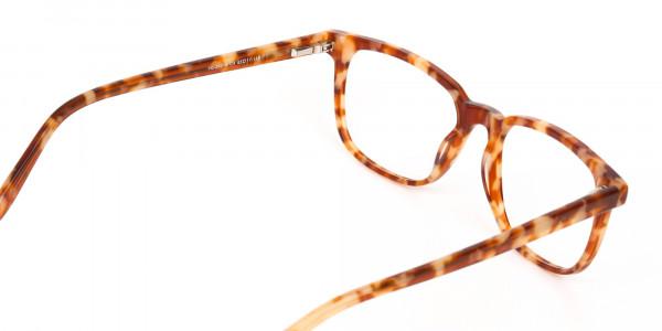 Caramel Tortoise Rectangular Glasses Unisex-5