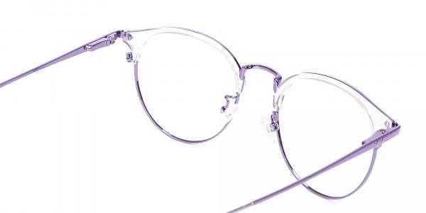 See-Through Browline Round in Purple- 5