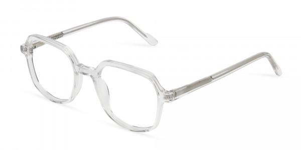 Transparent Geometric Heptagon Glasses - 3