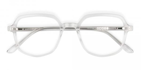 Transparent Geometric Heptagon Glasses - 6
