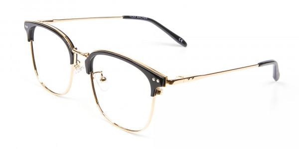 classic square browline frames - 2