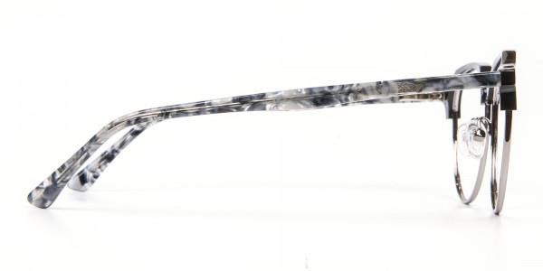 Metal Frame Browline Glasses - 4