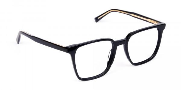 Square Black Eyeglasses-2