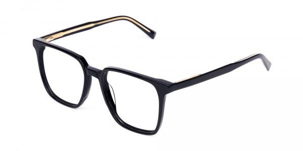 Square Black Eyeglasses-3