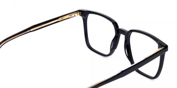 Square Black Eyeglasses-5