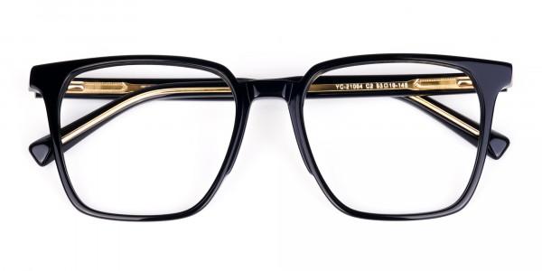 Square Black Eyeglasses-6