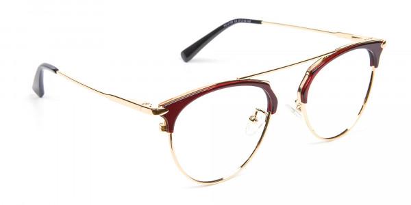 Unique Style Brown Glasses - 2