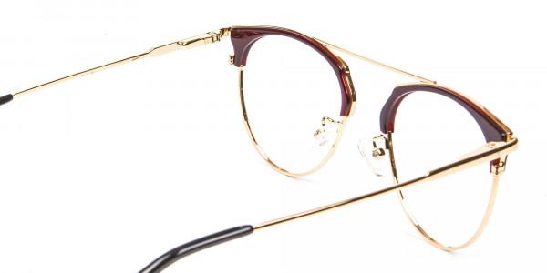Unique Style Brown Glasses - 5