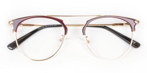 Unique Style Brown Glasses - 6