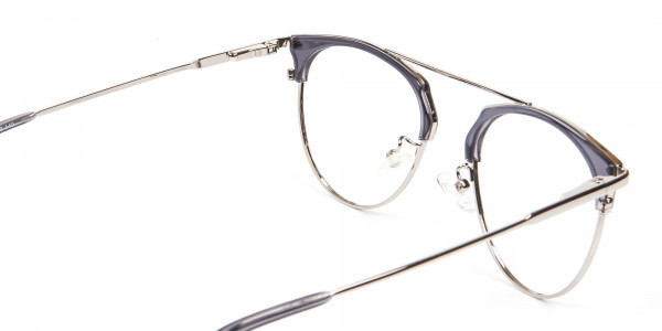 Translucent Browline Spring Hinge Glasses - 5