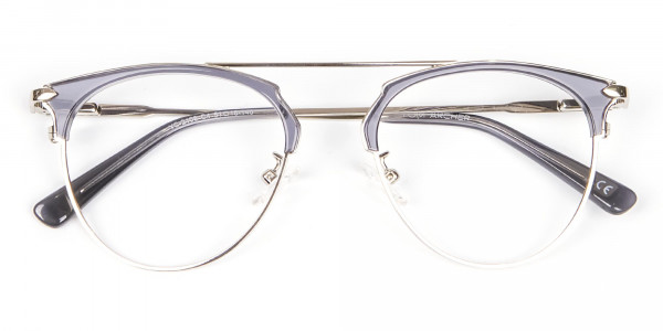 Translucent Browline Spring Hinge Glasses - 6