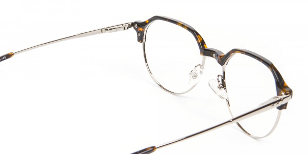 Havana & Tortoiseshell Browline Style Glasses - 5