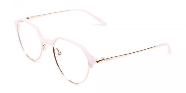 Fantasy Rosy Octagonal Glasses - 3
