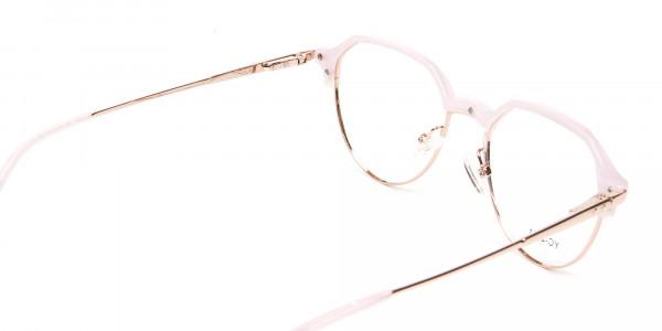 Fantasy Rosy Octagonal Glasses - 5